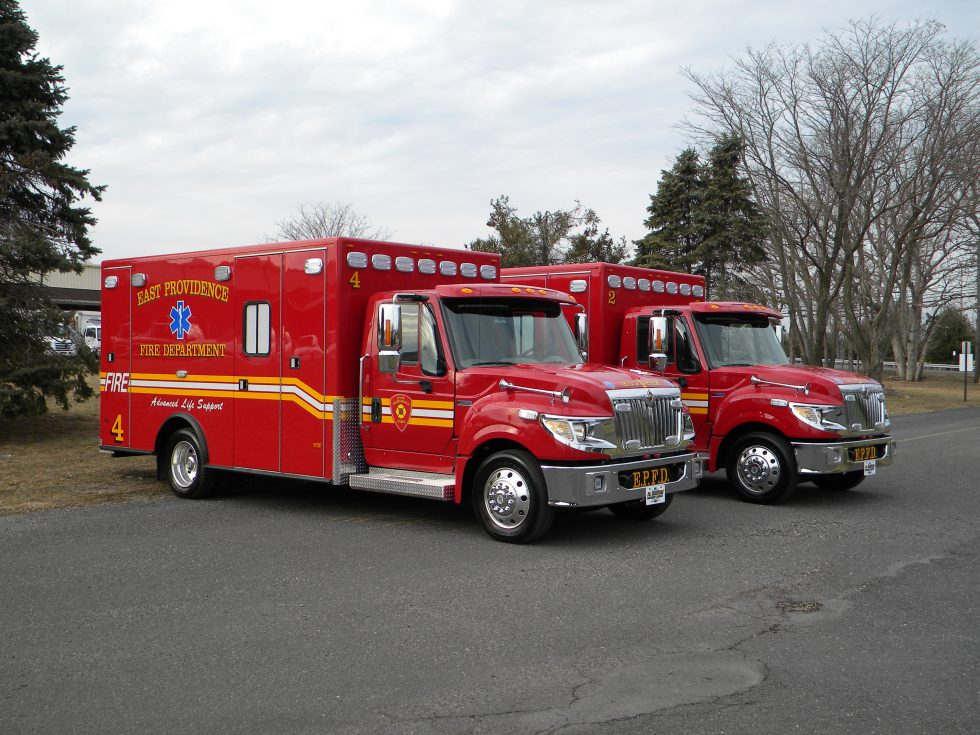 Two (2), Titan type 1 -ambulaces on Terrastar chassis